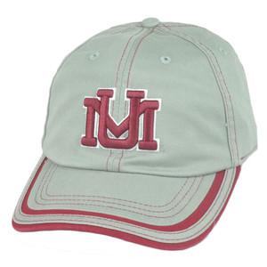 NCAA Montana Grizzlies Combi Garment Wash Snap Buckle Strapback Hat Cap Grey