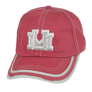 NCAA Montana Grizzlies Combi Garment Wash Snap Buckle Strapback Hat Cap Maroon