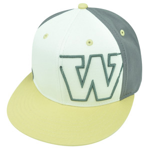 NCAA Washington Huskies Nagelle Flat Bill Velcro Strapback Hat Cap White Beige