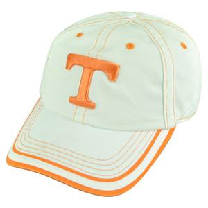 NCAA Tennessee Volunteers Vols Tip Top Garment Wash Slouch Buckle White Hat Cap