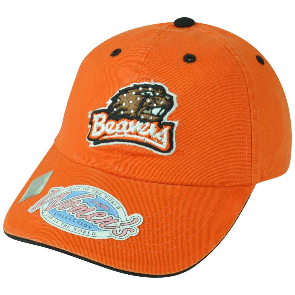 san francisco fc6d7 2e020 ... release date ncaa oregon state beavers women ladies garment wash  rhinestone bling hat cap. image