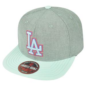 MLB American Needle Los Angeles Dodgers South Beach Clip Buckle Hat Cap Grey LA