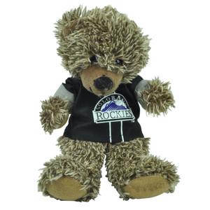 "MLB Colorado Rockies Black Hoodie Stuffed Plush Mini Teddy Bear 9"" Small Brown"