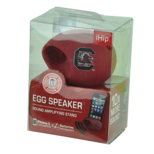 NCAA South Carolina Gamecocks Egg Speakers Stand Iphone Sound Music Burgundy