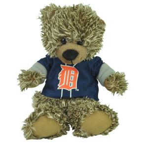 "MLB Detroit Tigers Blue Hoodie Stuffed Plush Mini Teddy Bear 9"" Small Gift Brown"