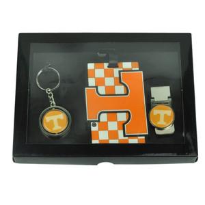NCAA Tennessee Volunteers Vols Key Chain Money Clip Id Holder Men Gift Set Orange
