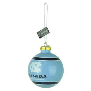 NCAA North Carolina Tar Heels Glass Ball Ornament Christmas Tree Decoration Fan