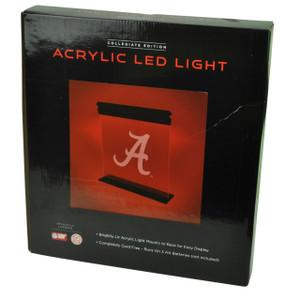 NCAA Alabama Crimson Tide Acrylic LED Light Fan Novelty 12x14 Sport Bright Bama