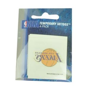 NBA Los Angeles Lakers LA 4 Pack Tattoos Win Craft Sports Quick Easy Logos Fan