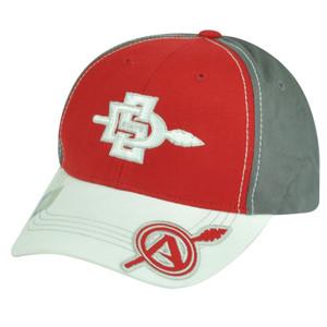 NCAA San Diego State Aztecs Velcro Adjustable Red Captivating Headgear Hat Cap