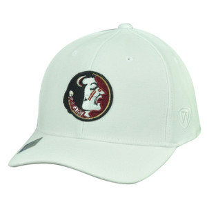 NCAA Florida State Seminoles Top the World Flex Fit Large XLarge Hat Cap White