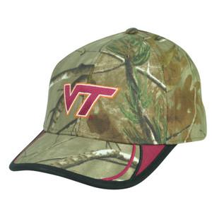NCAA Virginia Tech Hokies Camouflage Camo Velcro Realtree Hat Cap Adjustable