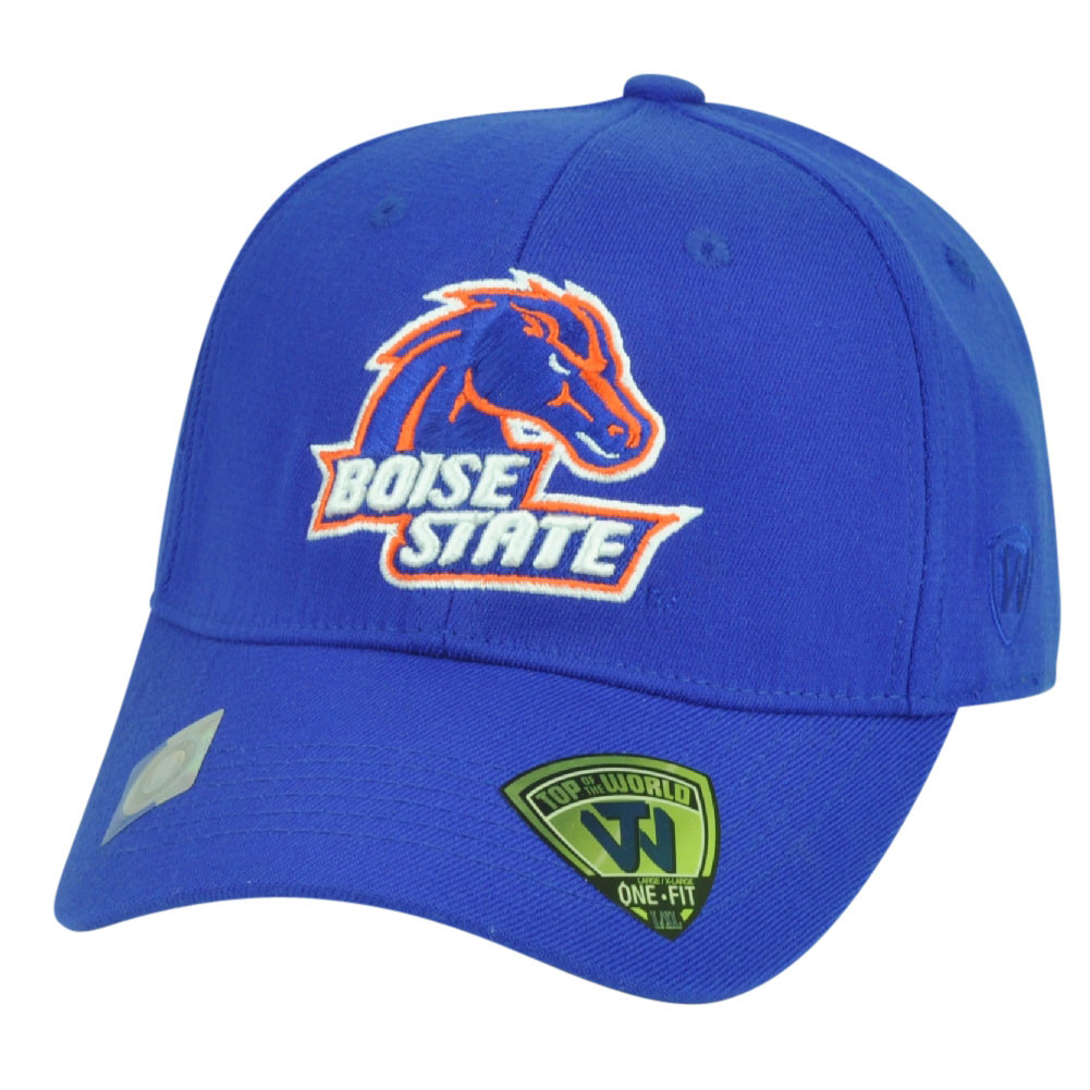2876b7f0a7b84 NCAA Boise State Broncos Top of the World Flex Fit Large Stretch Hat ...