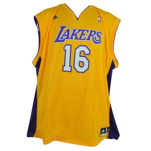 NBA Los Angeles Lakers Adidas Pro Cut Mens Adult Jersey Pau Gasol 16 2XLarge XXL