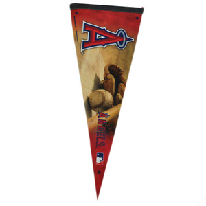 "MLB Los Angeles Angels Felt Pennant 30""x11"" Fan Banner Room Office Game Decor"