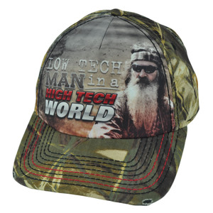 Duck Dynasty A&E Low Tech Man High Tech World Sublimated Phil Distressed Hat Cap