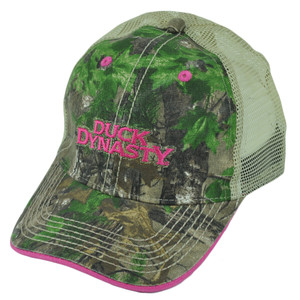 Duck Dynasty A&E Realtree Camouflage Ladies Women Garment Wash Buckle Hat Cap