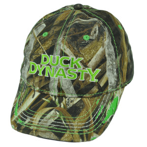 A&E Realtree Duck Dynasty Distressed Lime Camouflage Velcro Youth Show Hat Cap