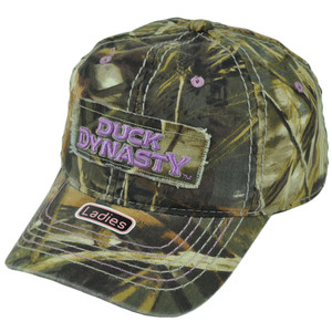 Duck Dynasty A&E TV Series Realtree Women Ladies Camouflage Garment Wash Hat Cap