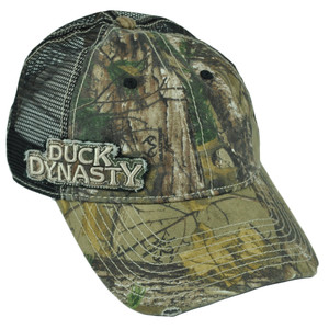 Duck Dynasty A&E Realtree Side Mesh Distressed Camo Garment Wash Velcro Hat Cap
