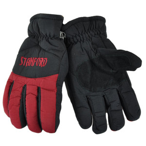 NCAA Stanford Cardinals Two Tone Winter Snow Ski Gloves Thermal Insulation S/M