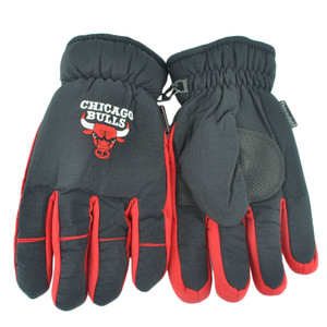 NBA Chicago Bulls Two Tone 3M Men Winter Snow Ski Gloves Thermal Insulation L/XL