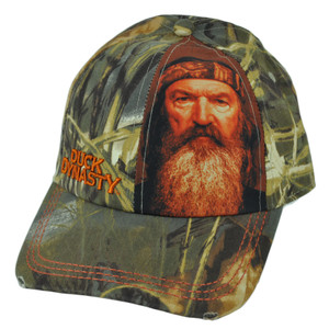 Duck Dynasty A&E TV Series Phil Sublimation Swamp Camo Distressed Buckle Hat Cap