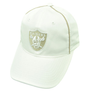 NFL Oakland Raiders Reebok Jules Clip Buckle White Garment Wash Hat Cap Relaxed