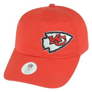 NFL Kansas City Chiefs Womens Collider Sun Buckle Red Relaxed Hat Cap Slouch