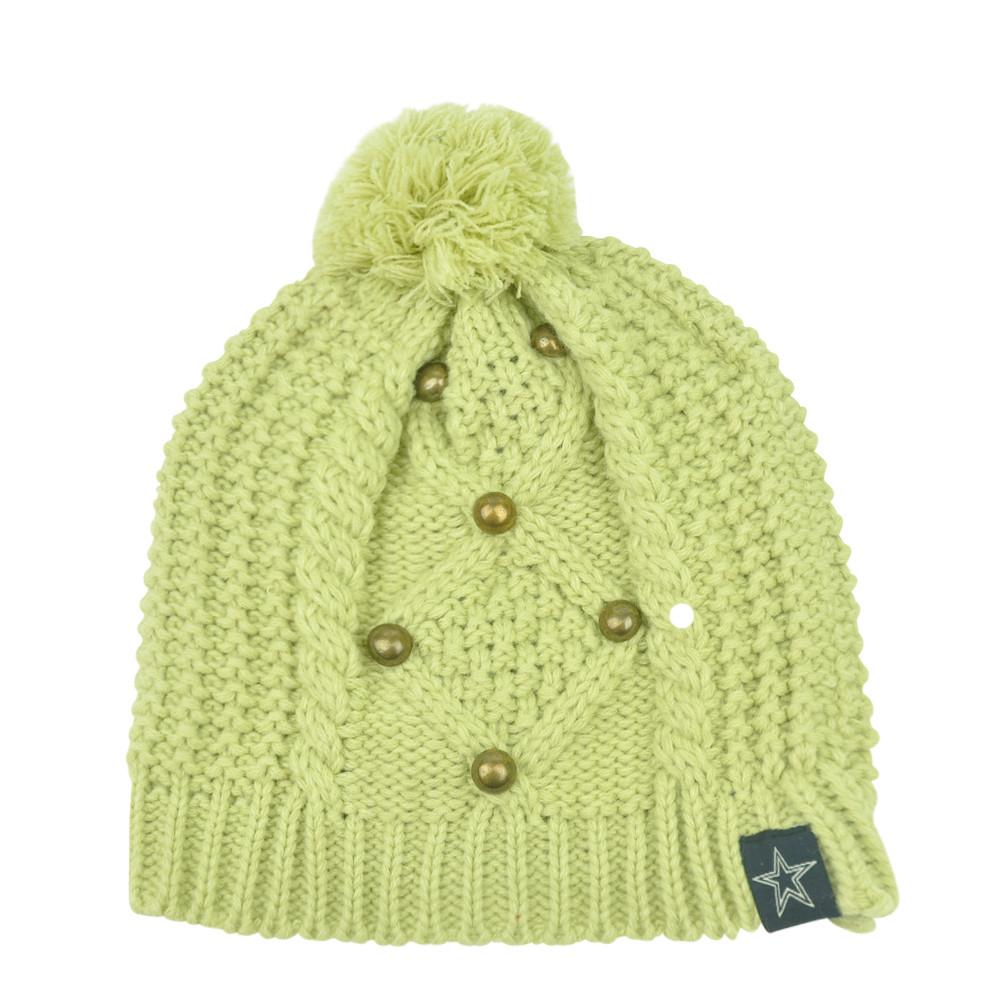 NFL Dallas Cowboys Pom Pom Sophisticate Crochet Womens Knit Beanie Toque Hat.  Image 1 7e7b6b7f9ca