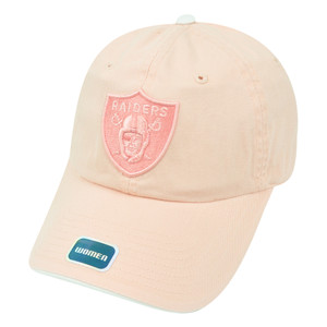 NFL Oakland Raiders Women Castel Pink Clip Buckle Hat Cap Garment Wash Relaxed