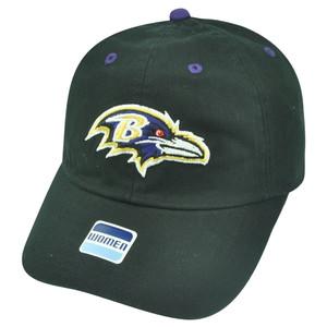 NFL Baltimore Ravens Castel Clip Buckle Black Womens Ladies Relaxed Hat Cap