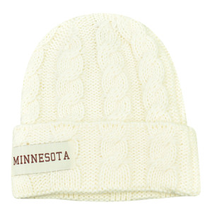 5e7d4027f30db NCAA Minnesota Golden Gophers Kiera Women Ladies Cuffed Crochet Beanie Knit  Hat