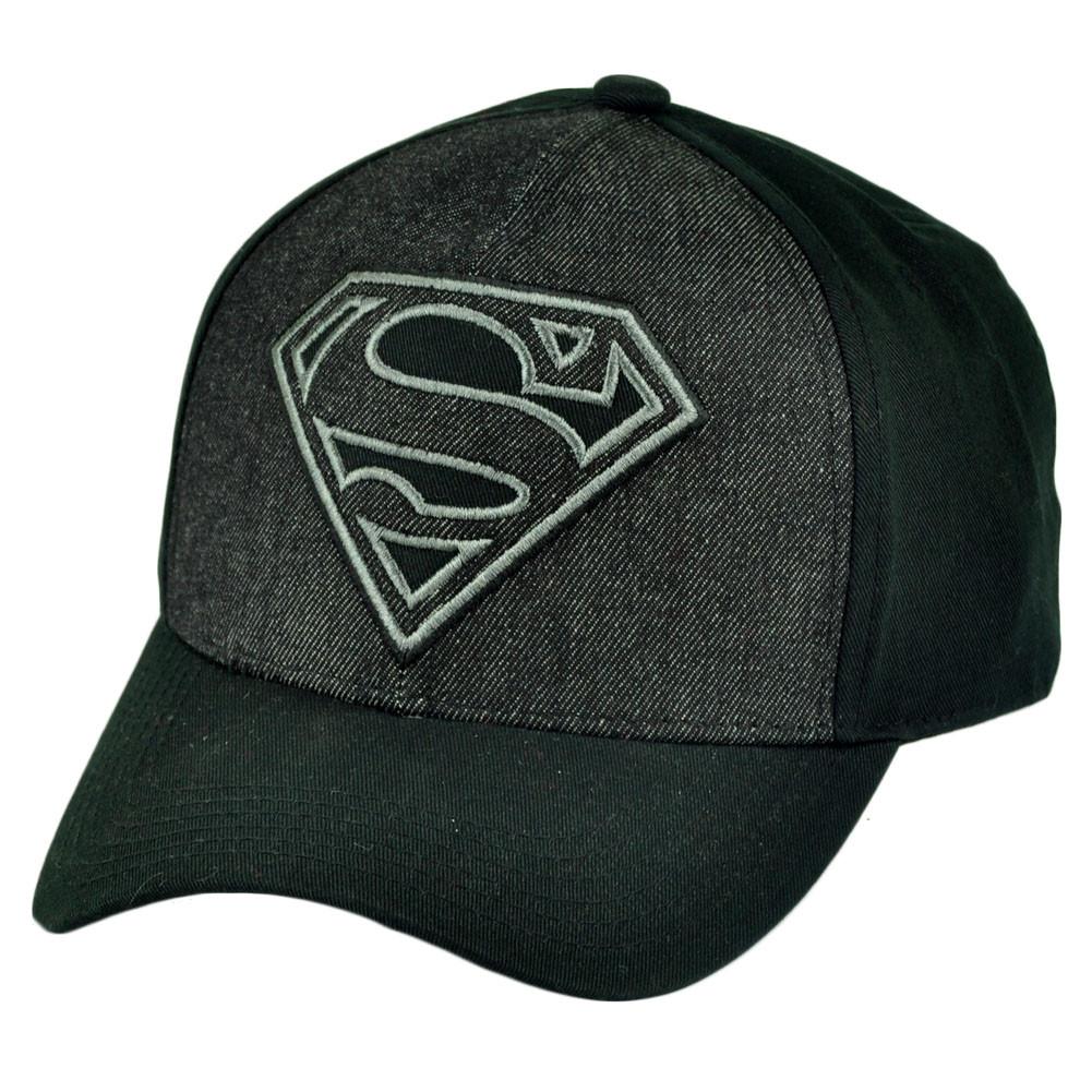 ae10732b307 DC Comics Superman Two Tone Black Grey Flex Fit Large XLarge Hat Cap ...