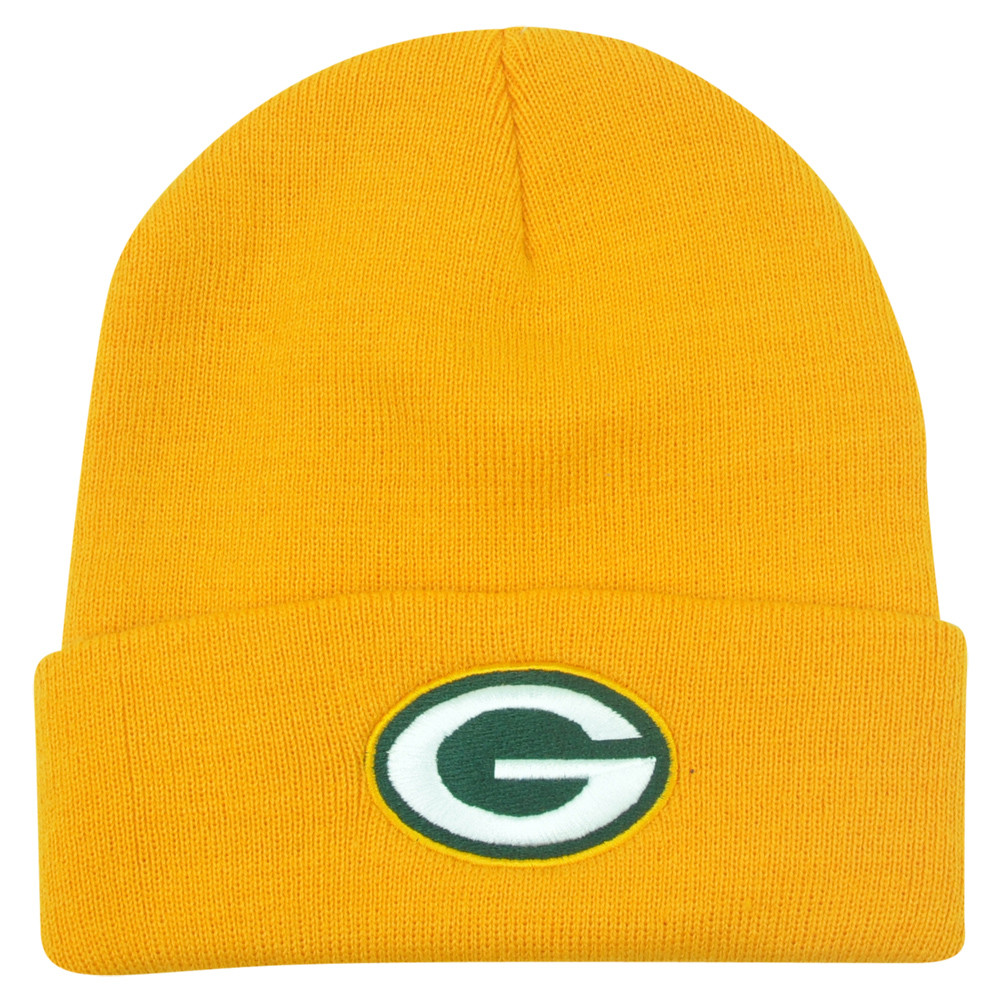9c2a068ce NFL Green Bay Packers Rice Cuffed Knit Beanie Youth Hat Football ...