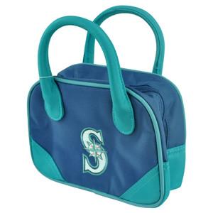 MLB Seattle Mariners Mini Bowler Hand Bag Two Tone Accessories Baseball Womens