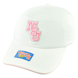 NCAA Mississippi State Bulldogs Youth Sun Buckle Hat Cap Girl Relaxed White