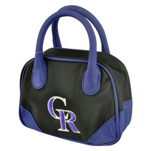 MLB Colorado Rockies CR Mini Bowler Hand Bag Two Tone Accessories Baseball Women