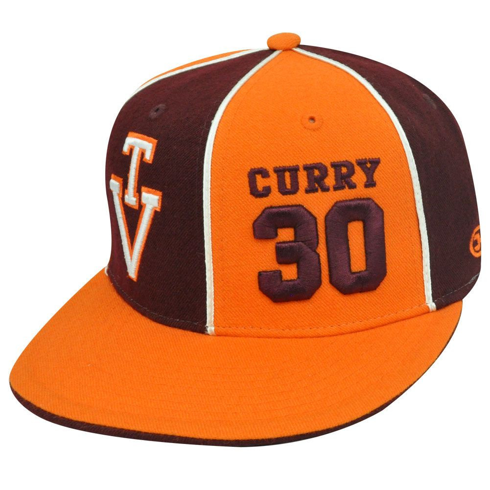 c3acaa5b6d4 NCAA VIRGINIA TECH 30 FITTED 7 1 2 HAT CAP DELL CURRY - Cap Store Online