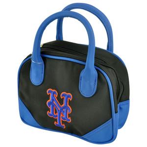 MLB New York Mets Mini Bowler Hand Bag Two Tone Accessories Baseball Womens
