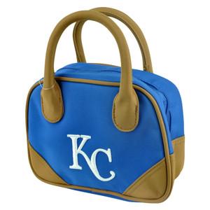 MLB Kansas City Royals Mini Bowler Hand Bag Two Tone Accessories Baseball Womens