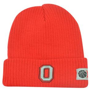NCAA Ohio State Buckeyes Cuffed Fan Favorite Loom Red Knit Beanie Winter Hat