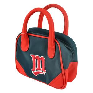 MLB Minnesota Twins Mini Bowler Hand Bag Two Tone Accessories Baseball Womens