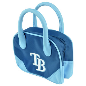 MLB Tampa Bay Rays Mini Bowler Hand Bag Two Tone Accessories Baseball Womens