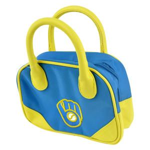 MLB Milwaukee Brewers Mini Bowler Hand Bag Two Tone Accessories Baseball Womens