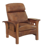 Bow Arm Bustle Back Morris Recliner