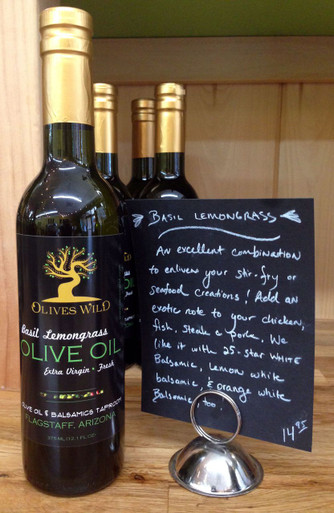 Basil Lemongrass Olive Oil from Olives Wild