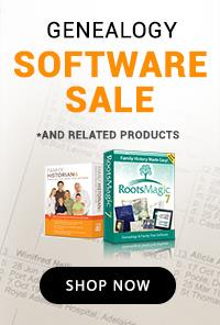 Genealogy Software Sale
