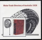 Motor Trade Directory of Australia 1928