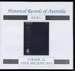 Historical Records of Australia Series 1 Volume 22